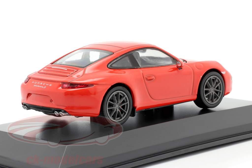 Porsche 911 (991) Carrera S lava oranje 1:43 Welly