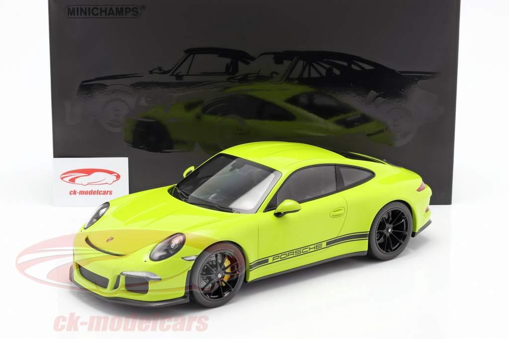 Porsche 911 (991) R Anno di costruzione 2016 leggero verde 1:12 Minichamps