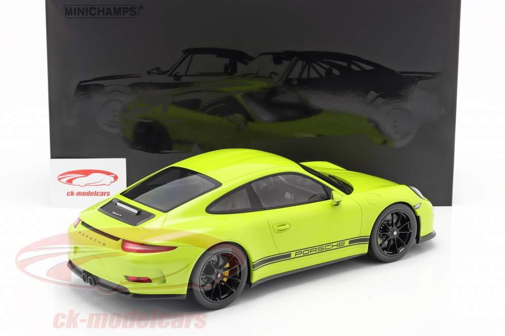 Porsche 911 (991) R Año de construcción 2016 ligero verde 1:12 Minichamps