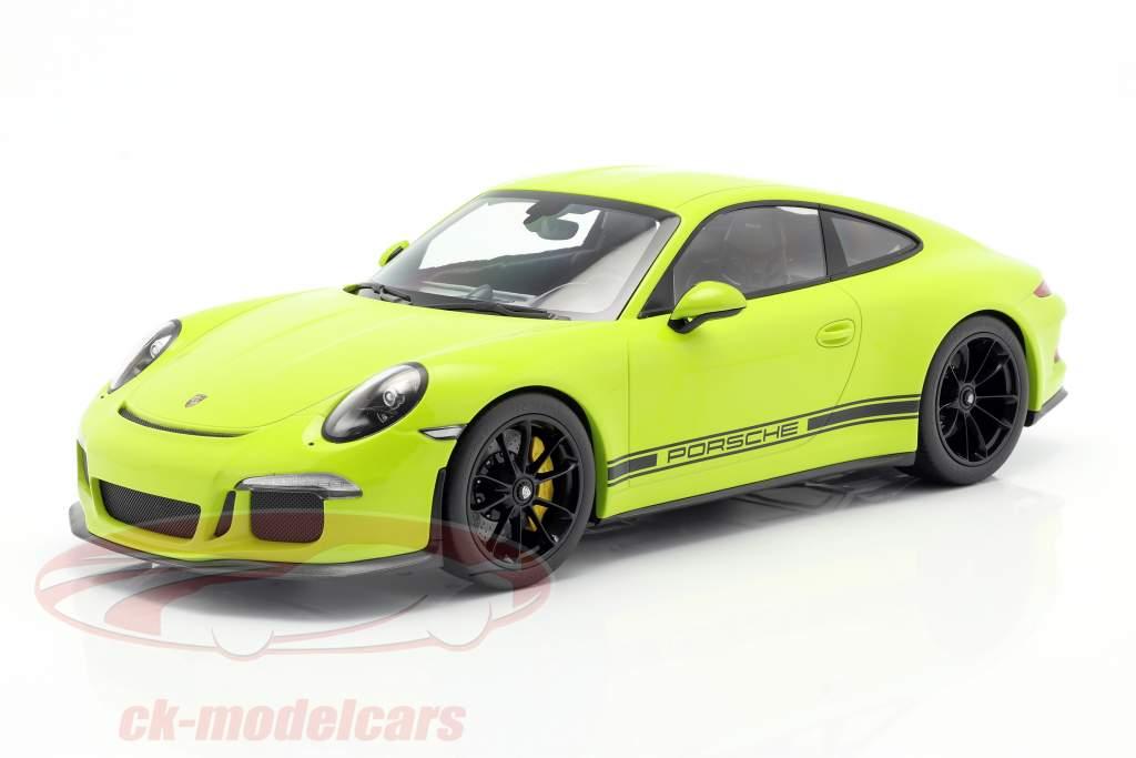 Porsche 911 (991) R Bouwjaar 2016 licht groen 1:12 Minichamps