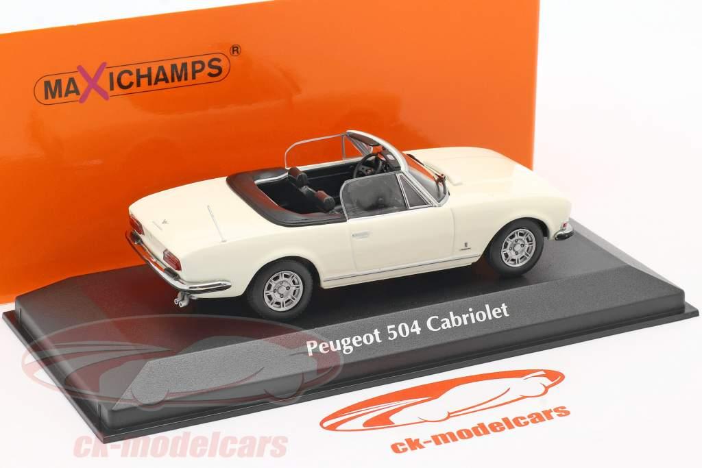 Peugeot 504 Cabriolet Bouwjaar 1977 Wit 1:43 Minichamps