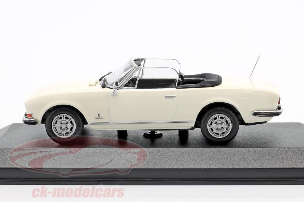 Peugeot 504 Cabriolet Année de construction 1977 blanc 1:43 Minichamps