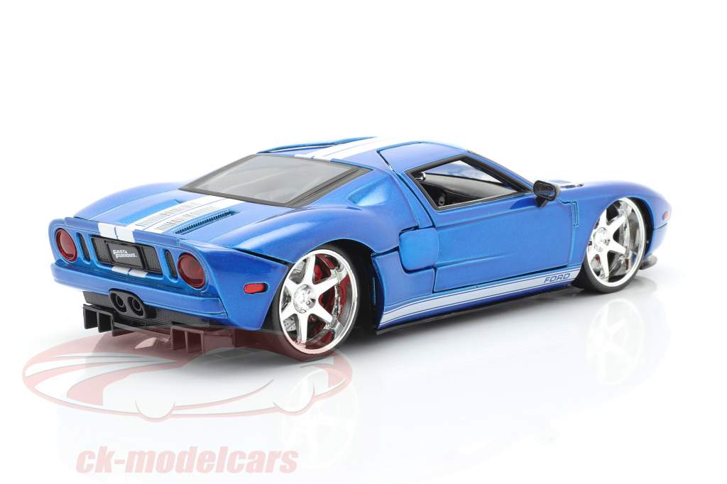 Ford GT Movie Fast and Furious 7 2015 blue / white 1:24 Jada Toys