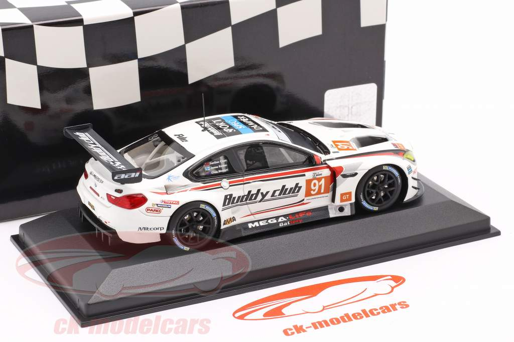 BMW M6 GT3 #91 Asian LeMans Series 2018 Chen, Krohn, Mostert 1:43 Minichamps