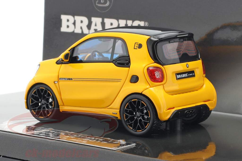 Smart Brabus Ultimate 125 E Concept Car IAA 2017 amarelo 1:43 Minichamps