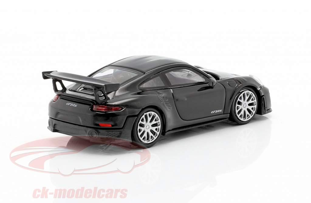 Porsche 911 GT2 RS Año de construcción 2018 negro / carbón 1:87 Minichamps