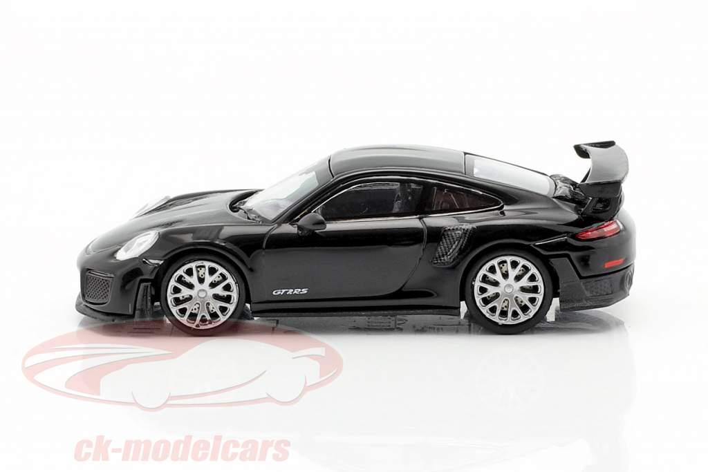 Porsche 911 GT2 RS Année de construction 2018 noir / carbone 1:87 Minichamps
