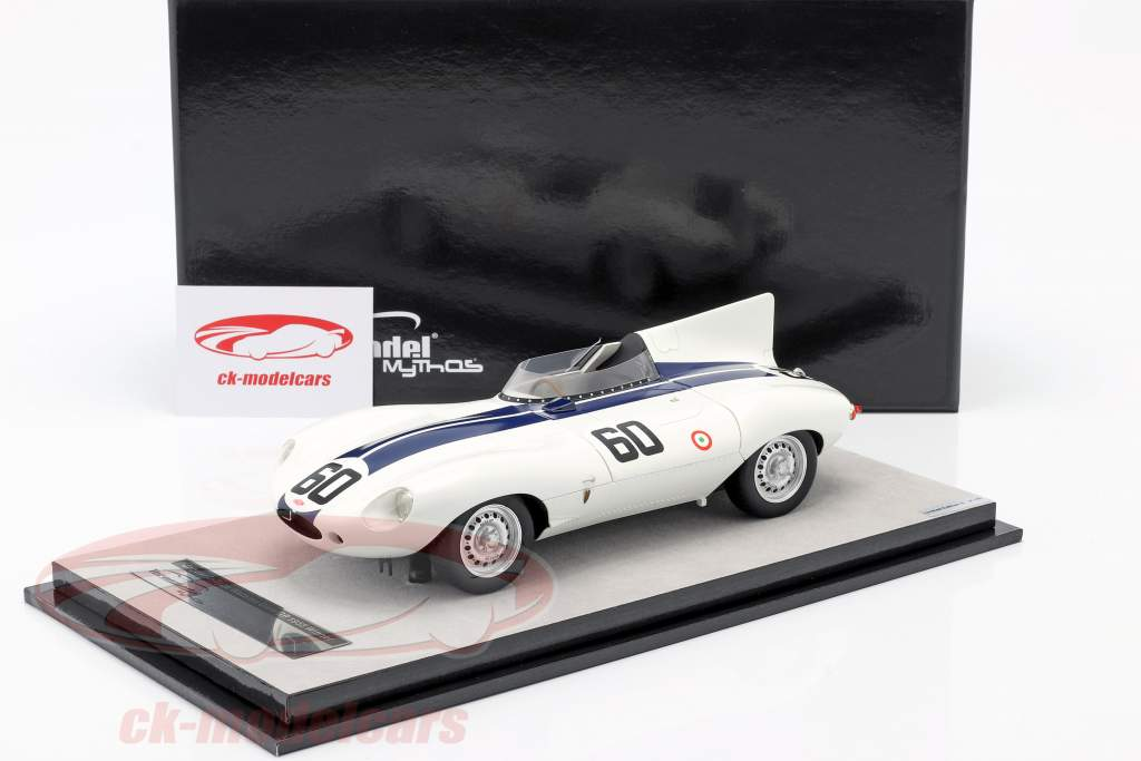 Jaguar D-Type #60 ganador Watkins Glen GP 1955 Johnston 1:18 Tecnomodel