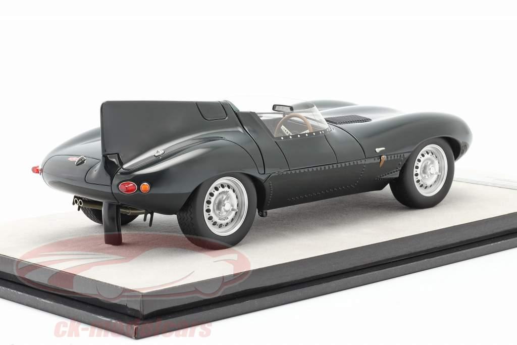 Jaguar D-Type Trykke version 1957 britisk væddeløb grøn 1:18 Tecnomodel