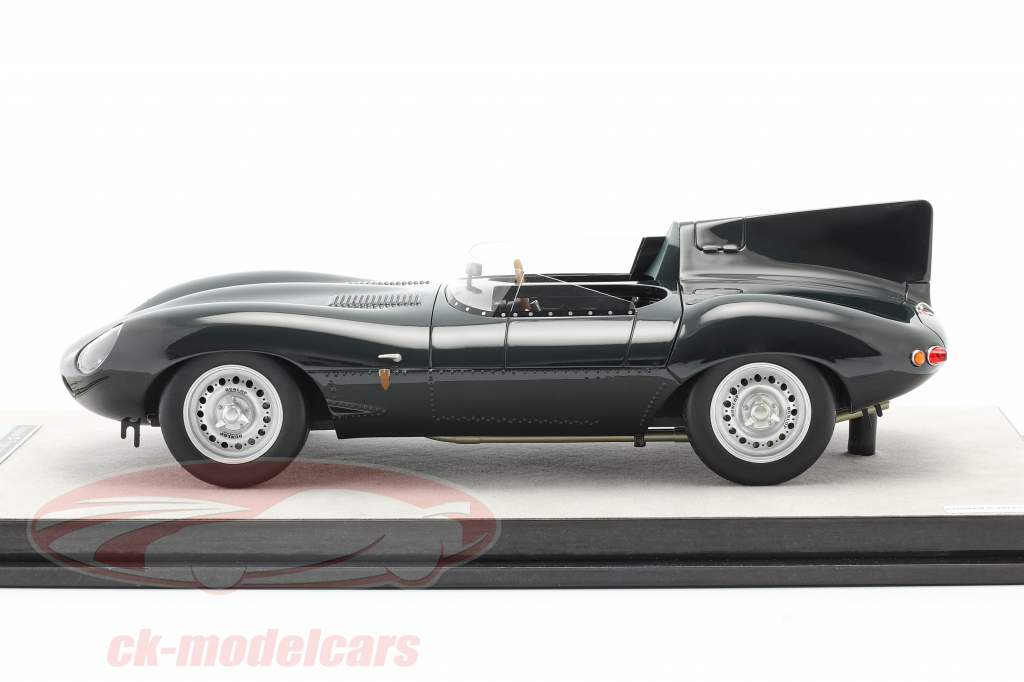 Jaguar D-Type presse version 1957 Britanique courses vert 1:18 Tecnomodel