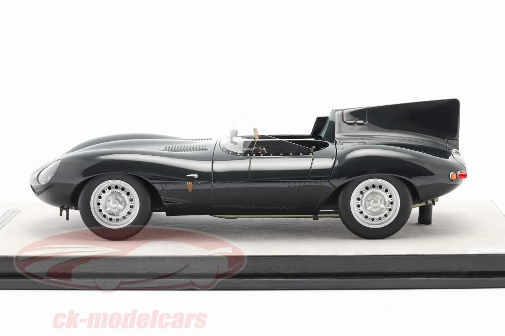 Jaguar D-Type pressione versão 1957 britânico corrida verde 1:18 Tecnomodel