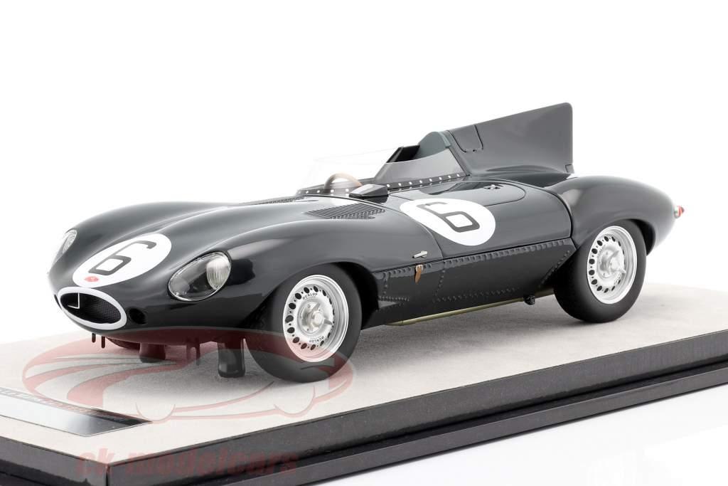 Jaguar D-Type #6 gagnant 24h LeMans 1955 Hawthorn, Bueb 1:18 Tecnomodel