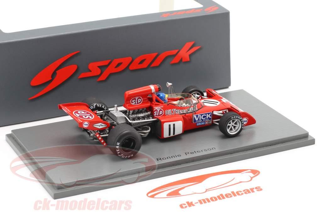 Ronnie Peterson March 721X #11 belga GP formula 1 1972 1:43 Spark