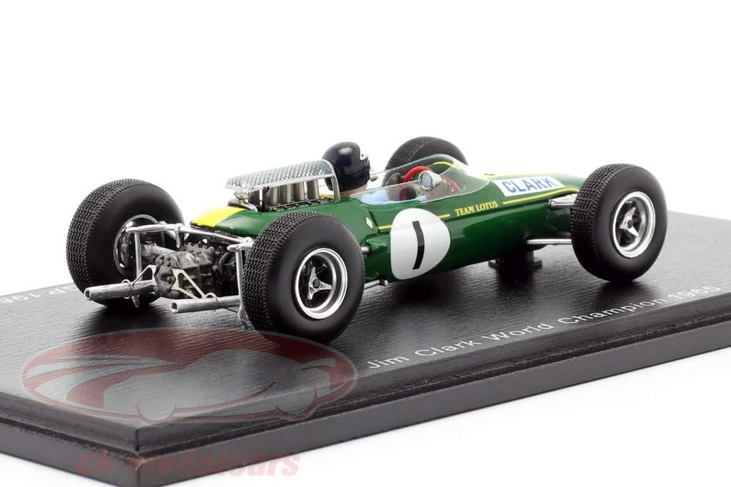 Jim Clark Lotus 33 #1 vincitore Tedesco GP Campione del mondo F1 1965 1:43 Spark
