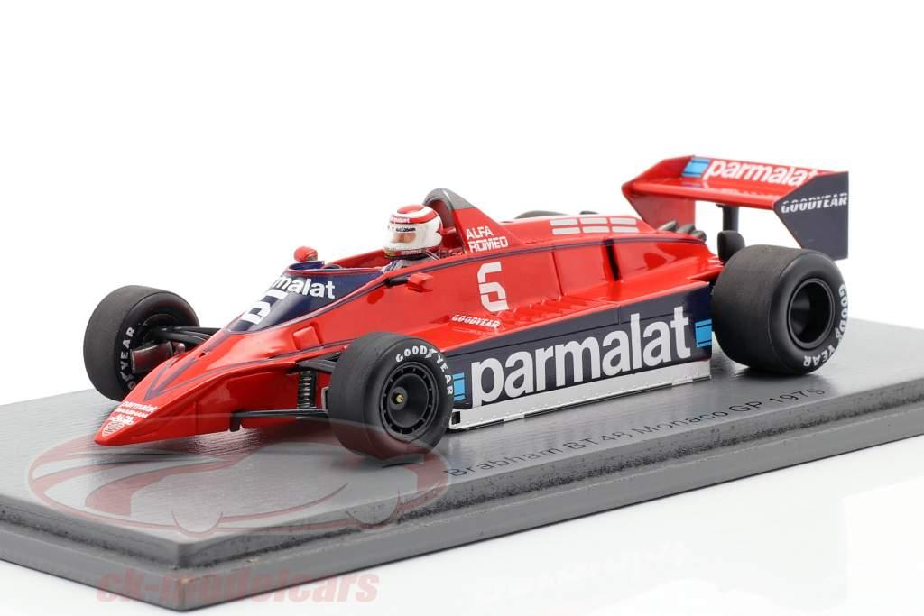 Nelson Piquet Brabham BT48 #6 Monaco GP Formel 1 1979 1:43 Spark