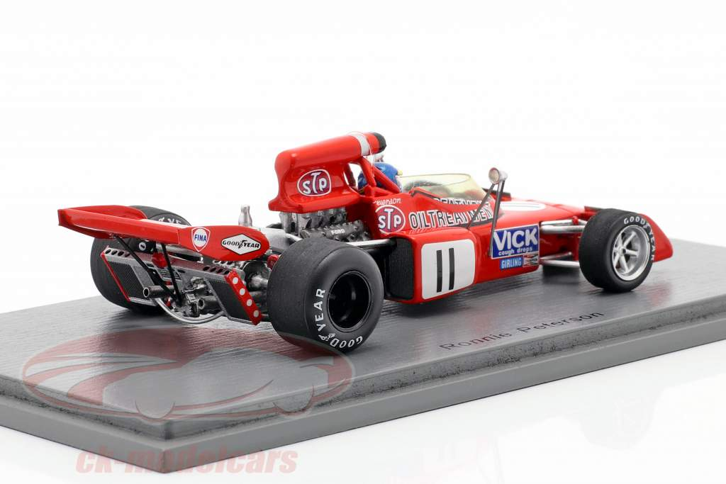 Ronnie Peterson March 721X #11 Belgian GP formula 1 1972 1:43 Spark
