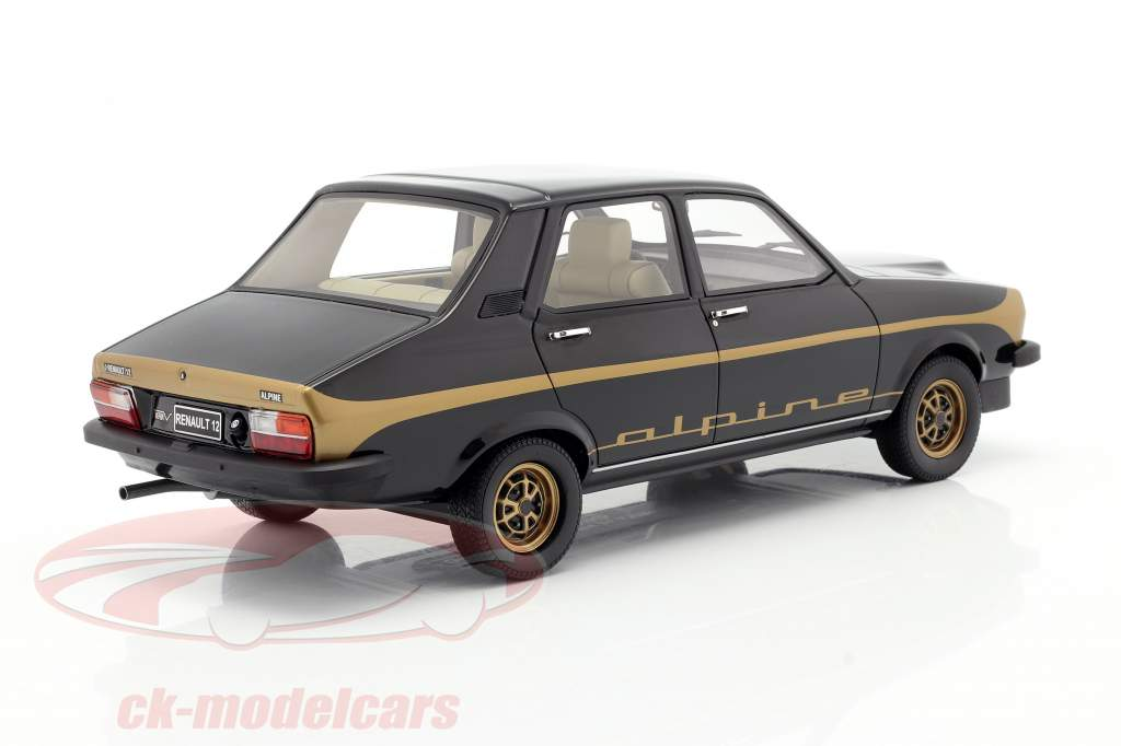 Renault R12 Alpine Baujahr 1978 schwarz / gold 1:18 OttOmobile
