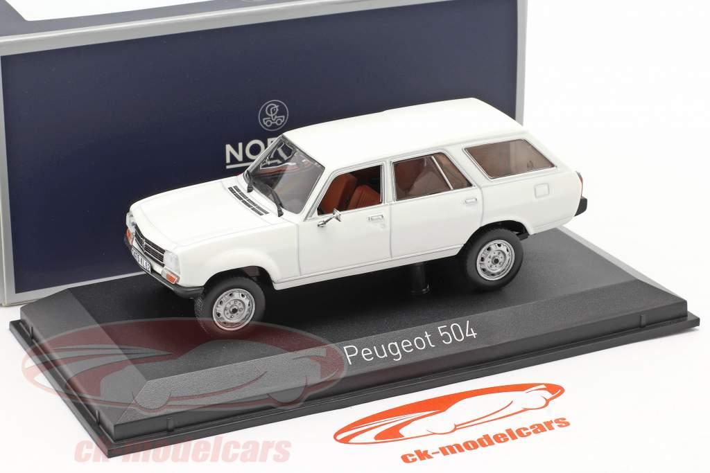 Peugeot 504 Break Dangel Ano de construção 1980 Alaska Branco 1:43 Norev