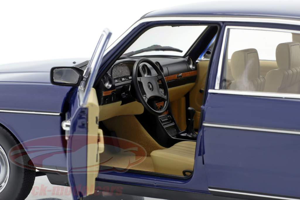 Mercedes-Benz 200 (W123) limousine year 1982 blue 1:18 Norev