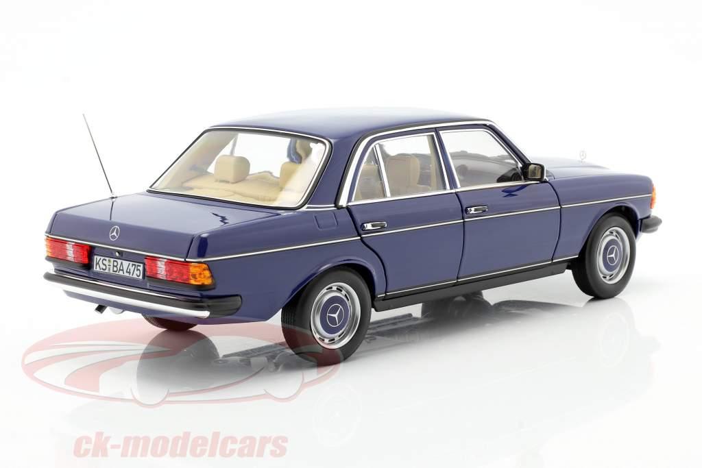 Mercedes-Benz 200 (W123) limousine Anno di costruzione 1982 blu 1:18 Norev