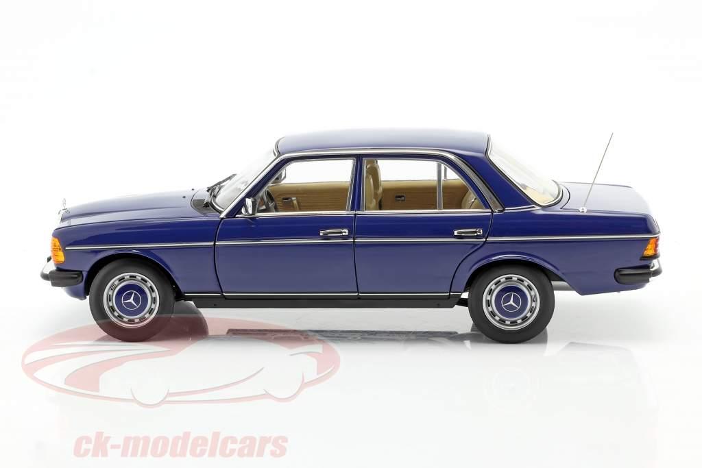 Mercedes-Benz 200 (W123) limousine Byggeår 1982 blå 1:18 Norev