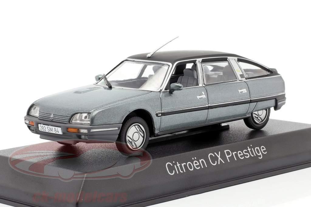 Citroen CX Turbo 2 Prestige Anno di costruzione 1986 blu grigio metallico 1:43 Norev