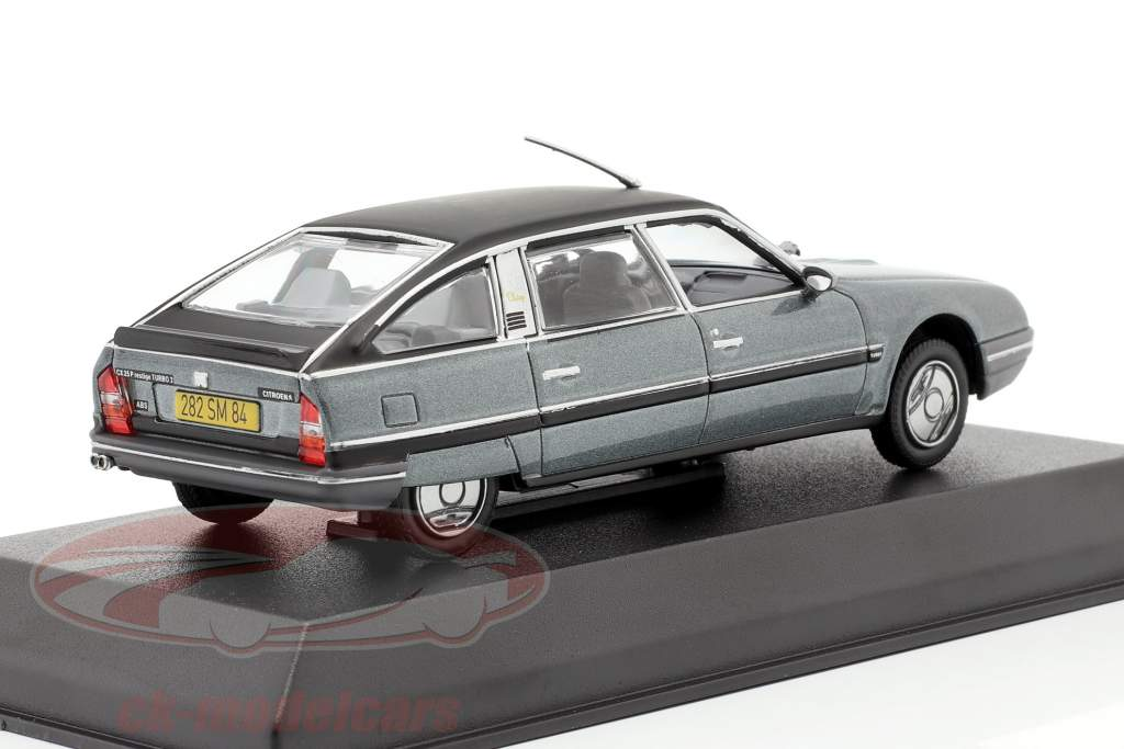 Citroen CX Turbo 2 Prestige Ano de construção 1986 cinza azulado metálico 1:43 Norev