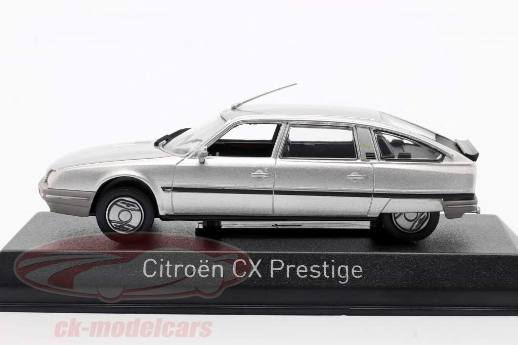 Citroen CX Turbo 2 Prestige Année de construction 1986 argent métallique 1:43 Norev