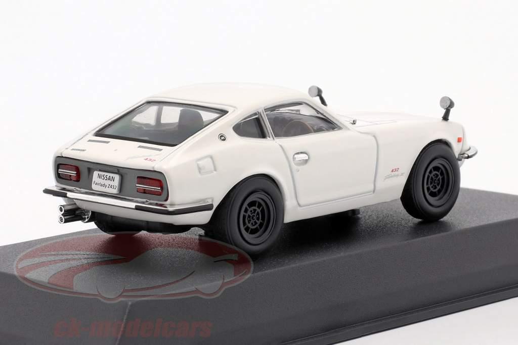 Nissan Fairlady Z432 Anno di costruzione 1969 bianca 1:43 Norev