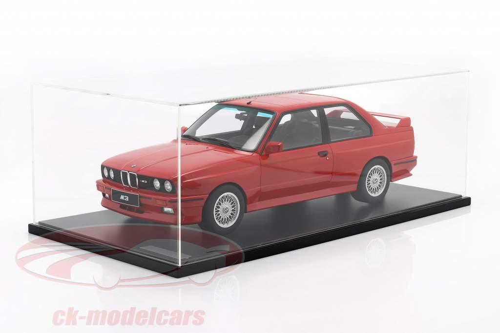 BMW M3 (E30) Byggeår 1986 strålende rød Med Udstillingsvindue 1:8 GT-Spirit