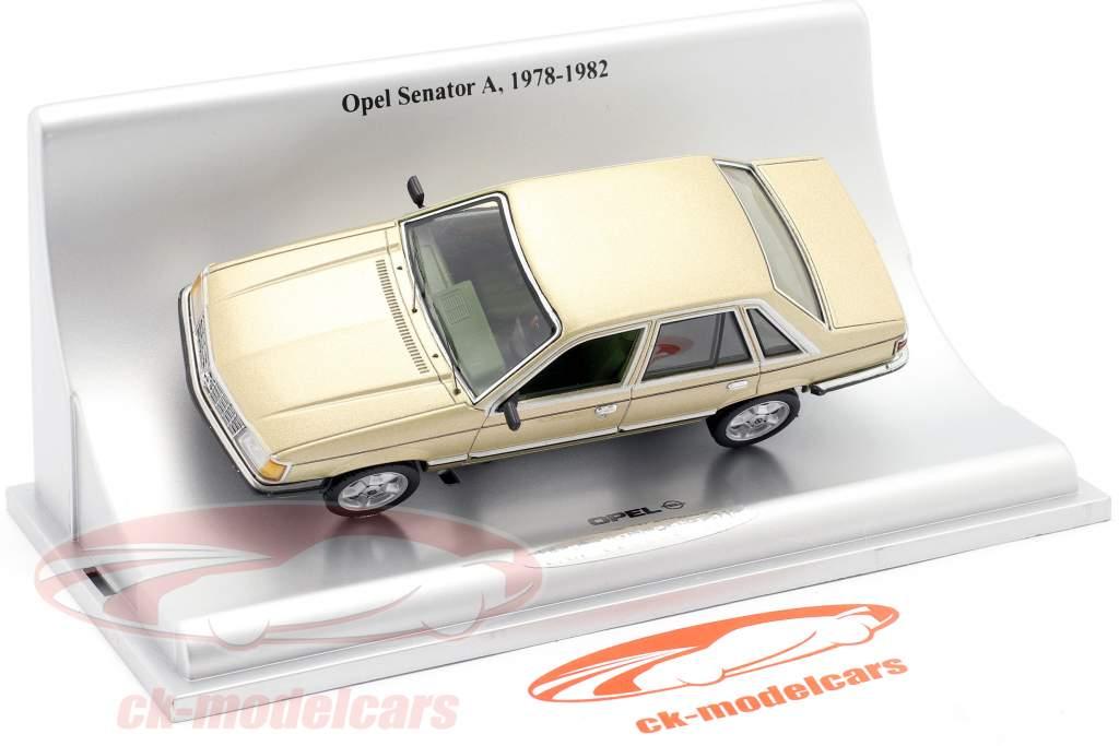 Opel Senator A Byggeår 1978-1982 guld metallisk 1:43 Schuco