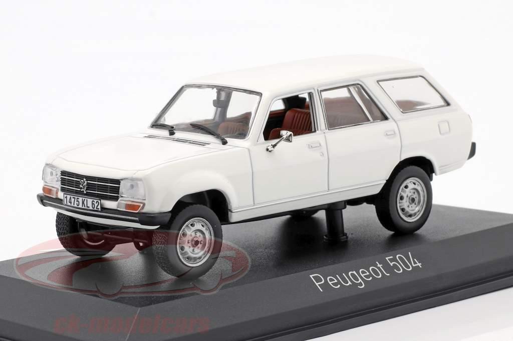 Peugeot 504 Break Dangel Baujahr 1980 Alaska weiß 1:43 Norev