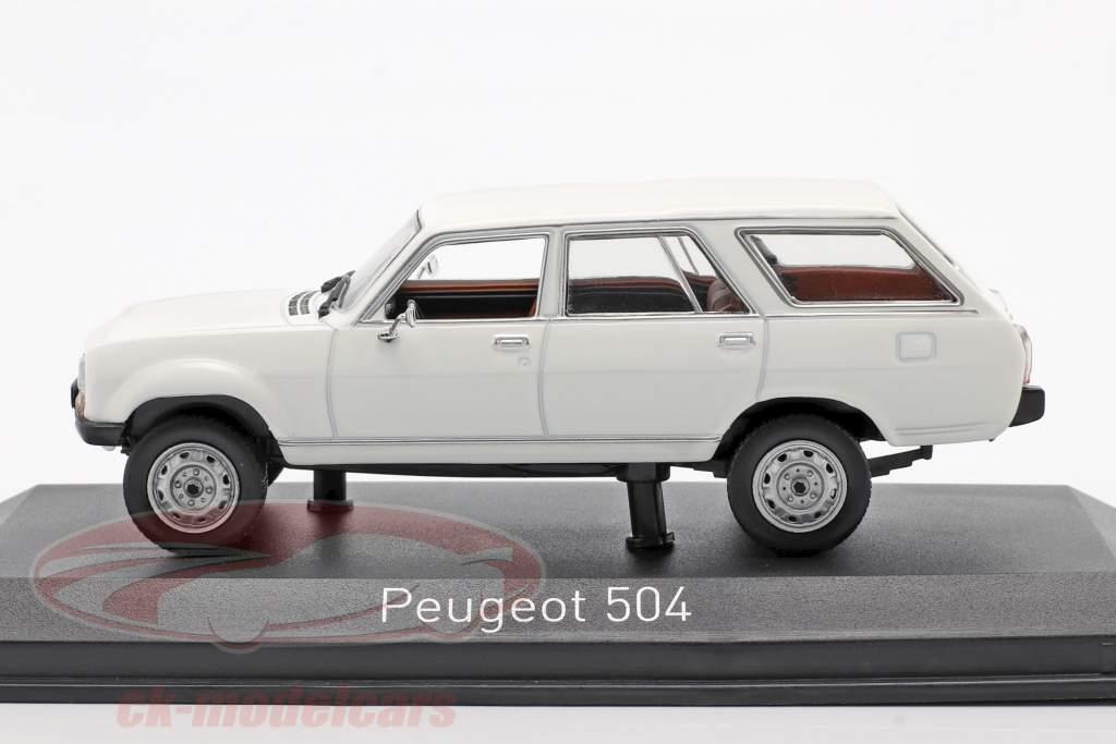 Peugeot 504 Break Dangel Byggeår 1980 Alaska hvid 1:43 Norev