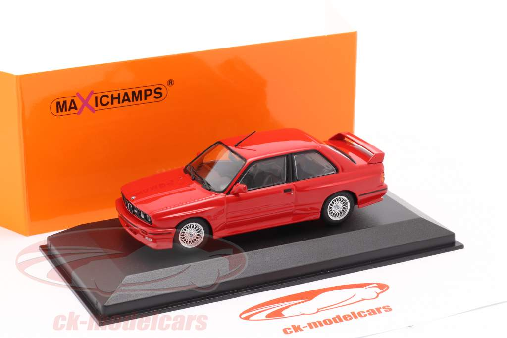 BMW M3 (E30) Baujahr 1987 rot 1:43 Minichamps