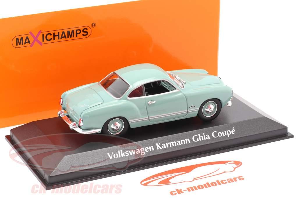 Volkswagen VW Karmann Ghia coupe year 1955 light blue 1:43 Minichamps