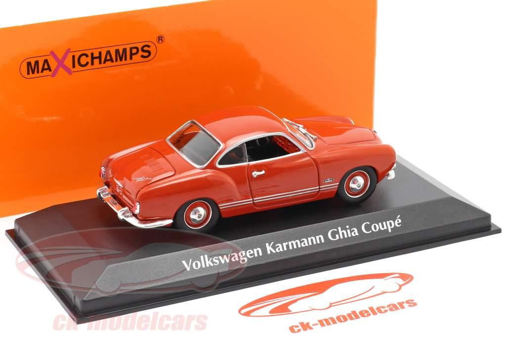 Volkswagen VW Karmann Ghia cupê Ano de construção 1955 vermelho 1:43 Minichamps