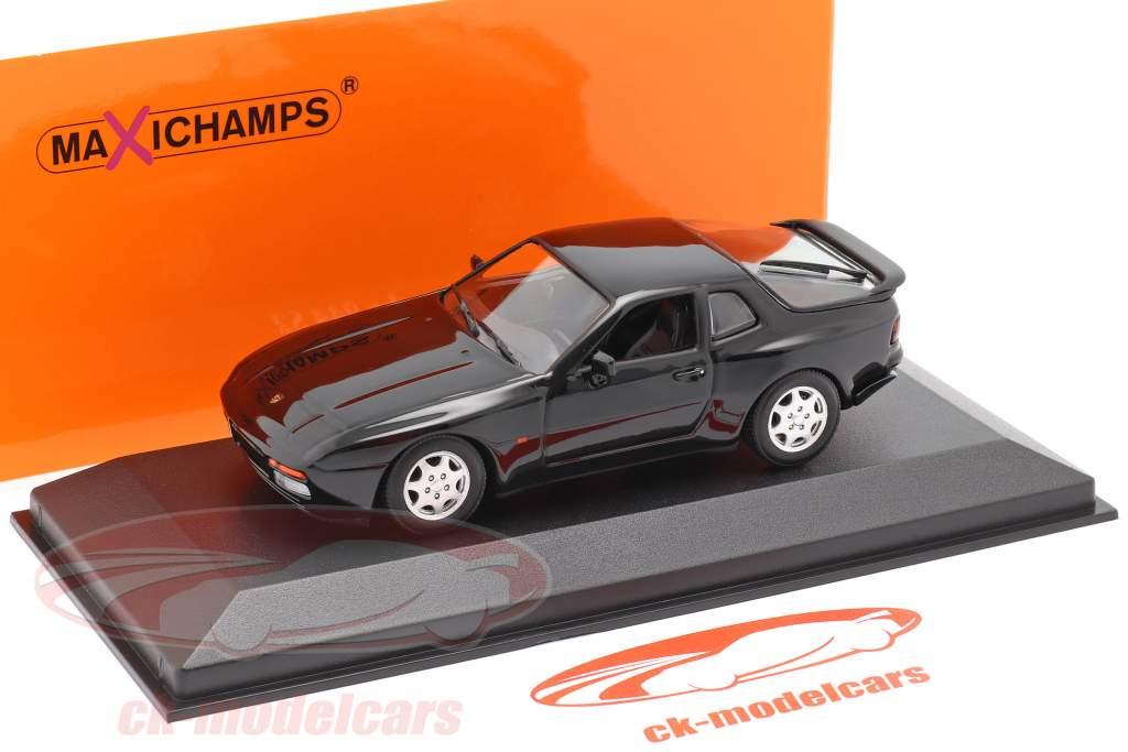 Porsche 944 S2 Année de construction 1989 noir 1:43 Minichamps
