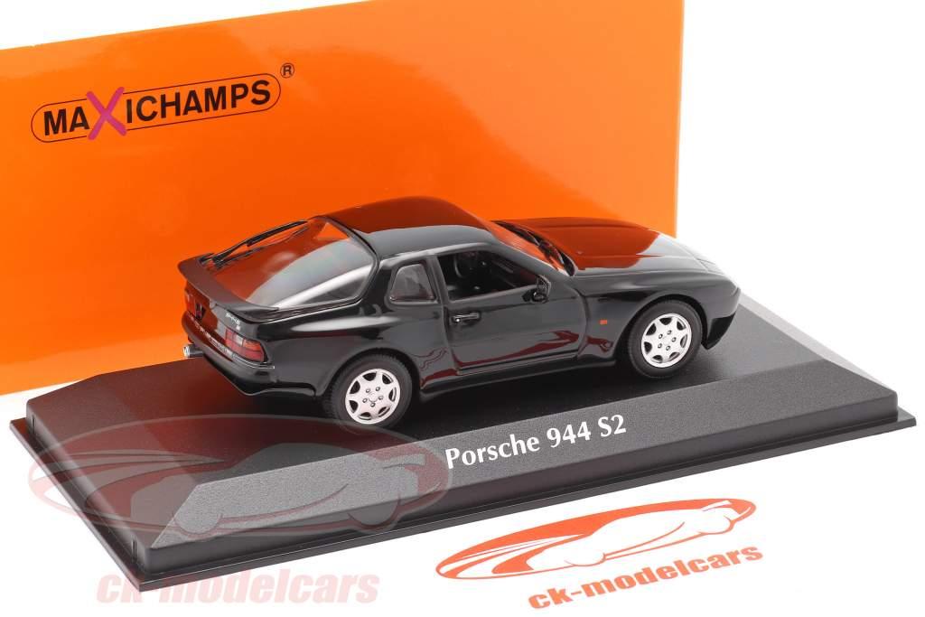 Porsche 944 S2 year 1989 black 1:43 Minichamps