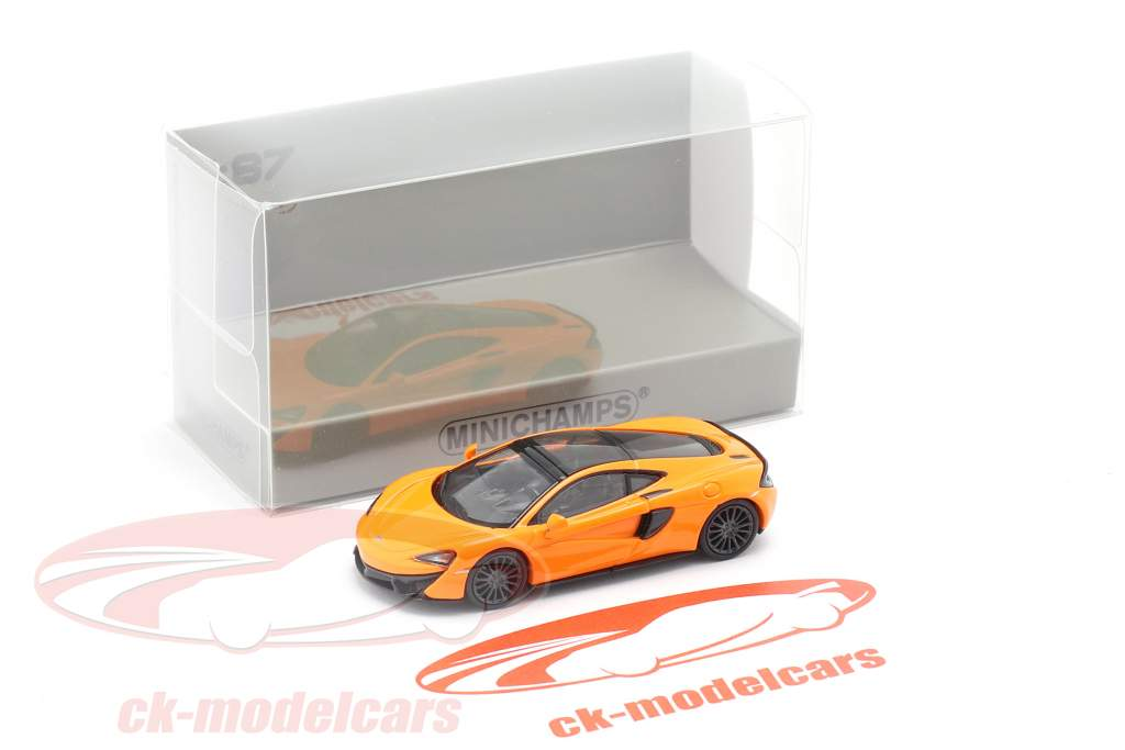 McLaren 570 GT Byggeår 2016 orange 1:87 Minichamps