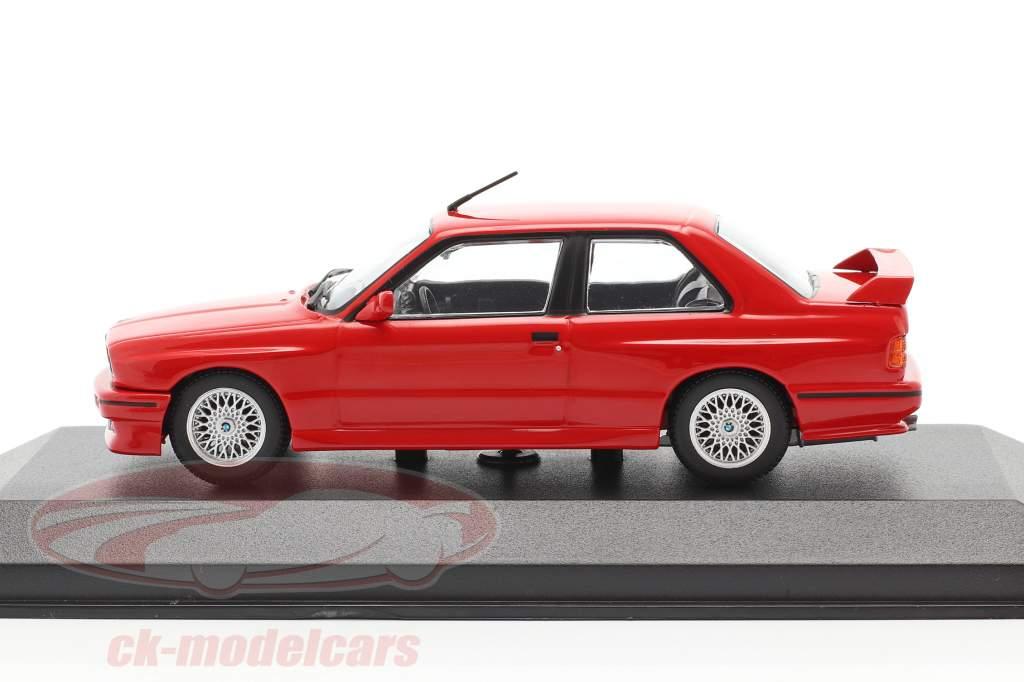 BMW M3 (E30) ano 1987 vermelho 1:43 Minichamps