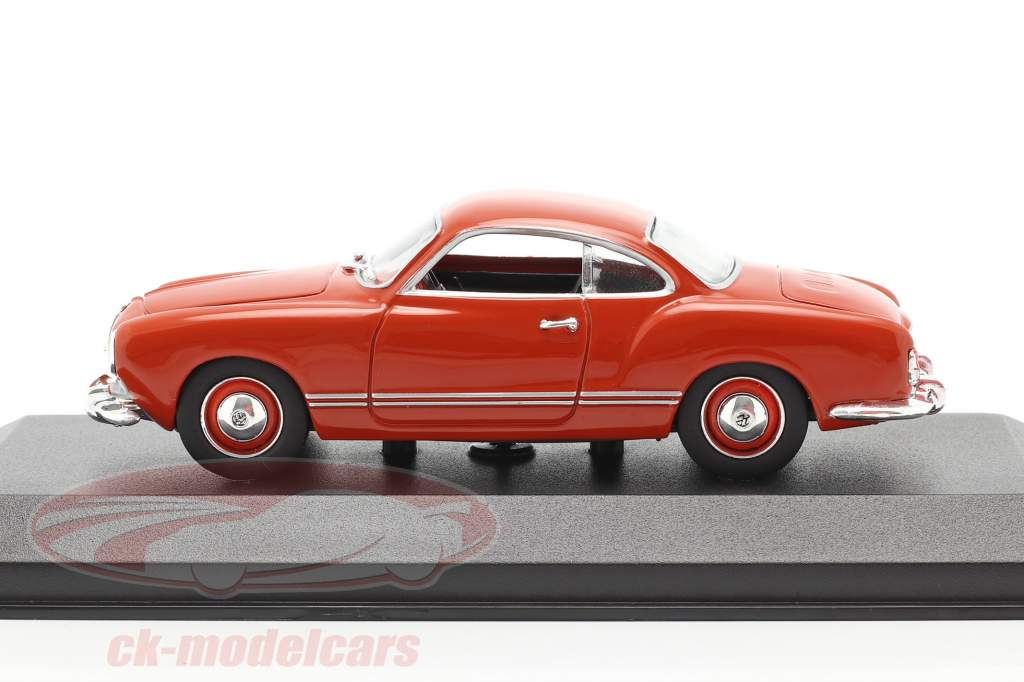 Volkswagen VW Karmann Ghia coupe year 1955 red 1:43 Minichamps