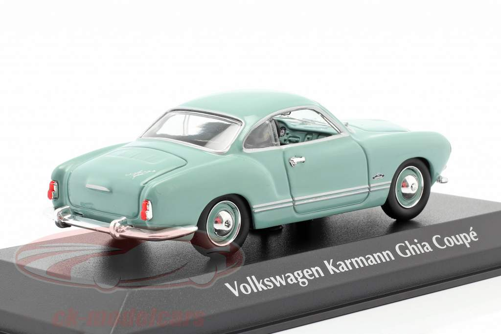 Volkswagen VW Karmann Ghia cupê Ano de construção 1955 leve azul 1:43 Minichamps