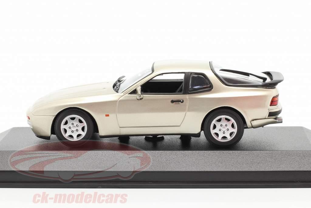 Porsche 944 S2 year 1989 beige metallic 1:43 Minichamps
