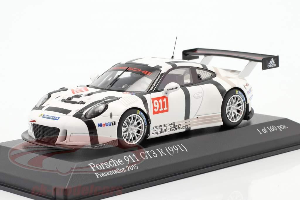 Porsche 911 (991) GT3 R #911 Presentation Car 2015 1:43 Minichamps
