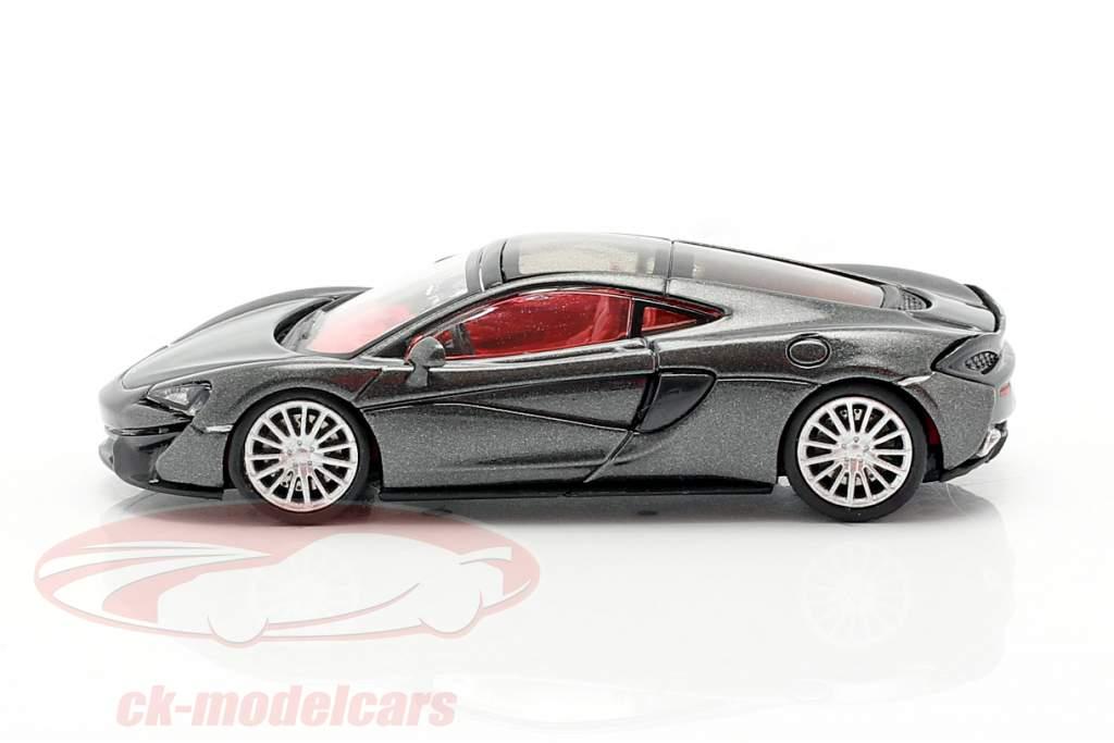McLaren 570 GT Baujahr 2016 sturmgrau 1:87 Minichamps