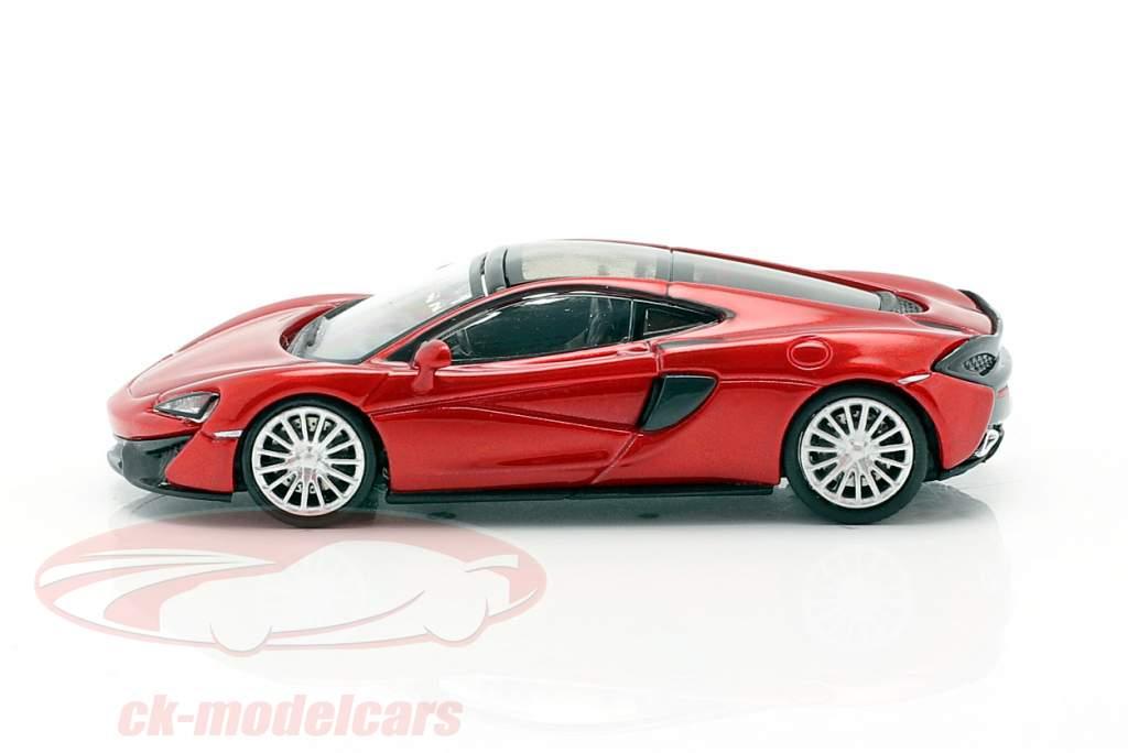 McLaren 570 GT year 2016 volcano red 1:87 Minichamps