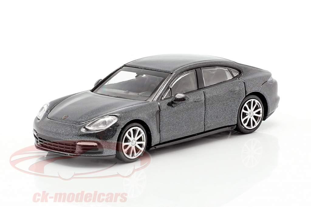 Porsche Panamera 4S Anno di costruzione 2015 Grigio metallico 1:87 Minichamps