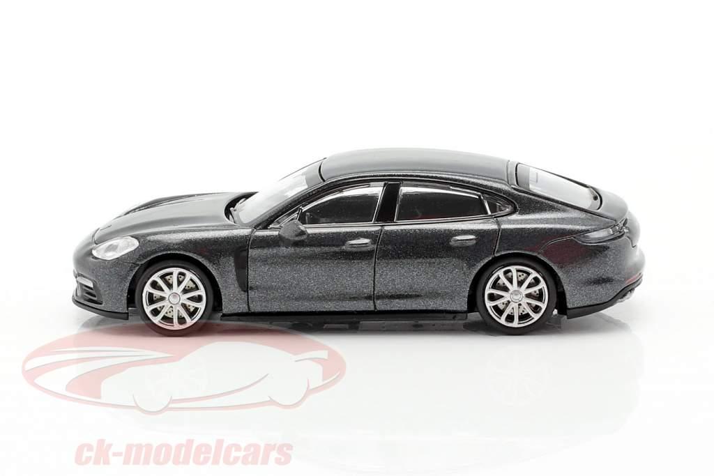 Porsche Panamera 4S Ano de construção 2015 cinzento metálico 1:87 Minichamps