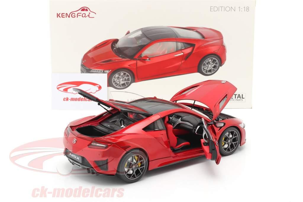 Honda Acura NSX LHD vermelho 1:18 KengFai
