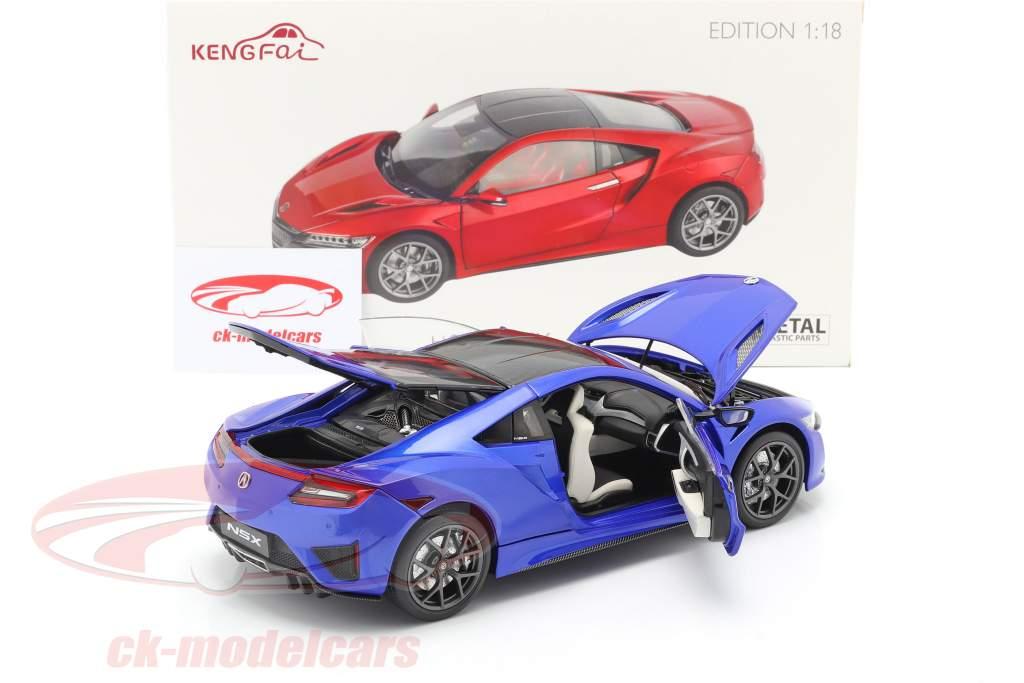 Honda Acura NSX LHD blue 1:18 KengFai